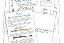 Learning modern calligraphy