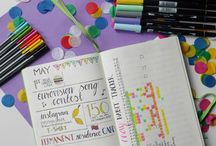 BULLET JOURNAL / This board includes ideas of how I use my bullet journal as well as others' bullet journal designs.