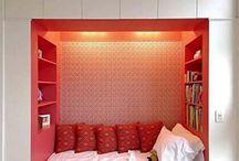 Bed c' built around storage / Bedroom