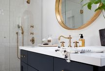 Navy-Blue Bathroom
