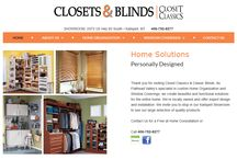 Closets and Blinds | Mobile Responsive Website / A Mobile Responsive Website