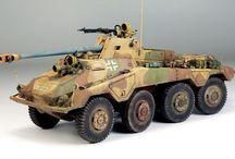 WW2 - SDKFZ 234/4 / Sd.Kfz.234 (Sonder Kraftfahrzeug lub Puma) – seria niemieckich 8-kołowych, ciężkich samochodów pancernych uzbrojonych w uzbrojony w armatę 7,5 cm Pak 40/2 L/46.