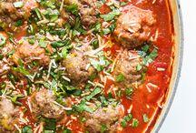 savories: meatballs