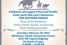 """Cowgirl Ball! / Celebrate and support Forward Stride!  Dinner, Drinks, Auction, and Dancing """"Buck"""" the Mechanical Bull  Saturday, February 28, 2015 Mittleman Jewish Community Center 6651 SW Capitol Highway, Portland, Oregon 5:30PM – 10:00 PM $85 per person  Come meet this year's honorees: THE RATTNER FAMILY  Music by the Ventilators  Purchase your tickets at www.forwardstride.org or call 503-590-2959 for more information."""