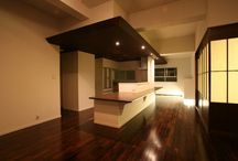 "RE:008_interior renovation / LSD design co., ltd. ""RE: 008""/2013/apartment/Okinawa, Japan/interior renovation white, brown, indirect light"