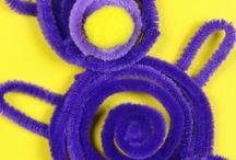 PIPE CLEANER CRAFTS FOR KIDS / prace z drucików kreatywnych