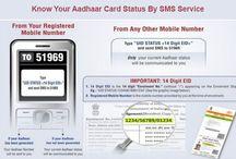 Check Aadhaar Status On Mobile / Check your Aadhaar card Status On Mobile phone through sending single SMS.
