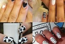 Nailart Black n White