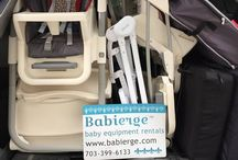 Cribs In Cars: The Art of Packing Baby Gear / Each day Babierge Trusted Partners cram rental cribs, car seats, strollers, highchairs, infant swings, baby backpacks, books, toys, games, beach gear and a lot more in their cars. This board celebrates their ability to get so many #CribsInCars!