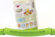 Food Vacuum Bags & Rolls / Our range of vacuum bags and rolls are imported direct from Italy and BPA free for maximum safety and hygiene. Our bags and rolls are significantly different from other vacuum packing products available because our range are microwavable, freezer safe and are perfectly ok to boil-in-the-bag to 100 degrees.