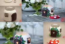 Jars and fairy houses / Polymer clay jars and other fairy houses