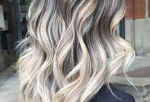 icy blonde/silver hair