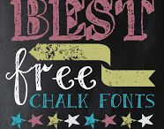 Fonts / Free fonts, dingbats, and lettering resources for blogs, free printables, and more.