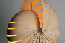 Lampen / Tiffany, wrakhout, lianen, retro.
