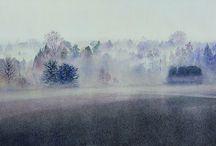 Nebbia acqurello