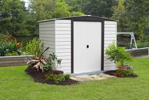 Arrow Vinyl Dallas Steel Storage Sheds / Vinyl Coated Steel gives the Dallas Steel Shed Series extra corrosion protection from the elements.  Comes in sizes  8'x 6', 10' x 6' 10' X 8' & 10' x 12'