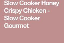 Slow cooker crispy honey chicken