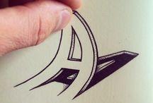 3D letter