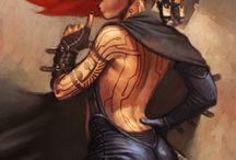 Character design - steampunk cyberpunk females
