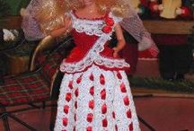 Christmas lace Barbie dress crochet