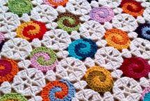 colchas de flores en crochet