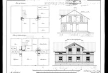 The house / The original drawing of our house from 1892. The ground floor plan is at the bottom of the image, and the kitchen in the upper left corner, which is the first room we starting out with.