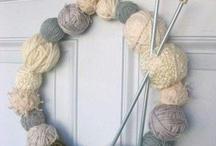 krans met wol