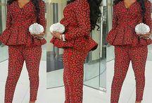 Africa/Ankara matching pants and tops
