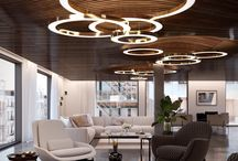 Mahlu / The Mahlu floating circular pendant creates a warm inviting glow by emitting light from both above and below the rings. The pearlised diffuser and wide profile gives the Mahlu a discerning elegance, allowing it to seamlessly fit into any interior.The Mahlu has been designed with the versatility to be a statement piece as a single ring or with multiple rings at varying sizes.  Bespoke options and design service available.