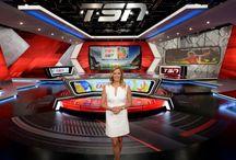 TV Sports Set Design / Set design for television sports.
