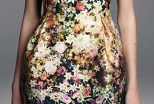 Curvy warm bright light dresses