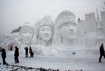 Ice/snow sculptures
