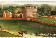 Buckingham Palace Stamps / Stunning, and available in-branch now > http://bit.ly/1eJbs8c   The Queen's face is on every stamp, and in this latest Royal Mail stamp release, you can now see around her main home.  / by Post Office