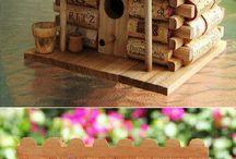 casita de corchos
