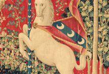 Magic animals fabric patterns renaissance