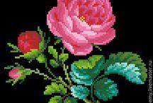 Kreuzstich Rose
