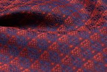 Fabrics / Range of variety images of array of luxurious fabrics and vibrant colours.