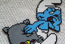 z - pixel art - les Schtroumpfs