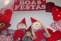 Decoração de Natal / Trabalhos dedicados à decoração de Natal, coroas ou guirlanda, centro de mesa, bonecos bem como bolas e adereços criativos para árvores de natal