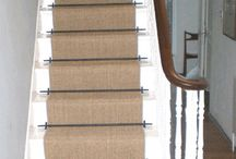 Sisal Carpet Laid As Runner With Stairrods / The Flooring Group laid sisal carpet as a runner with stairrods   www.theflooringgroup.co.uk.