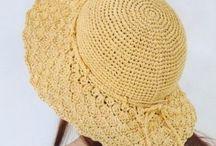 raffia crocheted hats & purses
