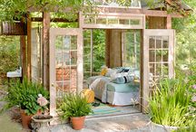Outdoor Room Ideas / These photos are my inspiration for creating an affordable backyard outdoor room. / by Rita