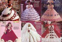 Crochet Barbies dress patterns
