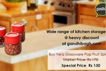 Kitchen Storage / #Shop wide range of #Kitchen #storage #items #spice #jar at heavy discount only at gandhibagh.com Buy now : http://goo.gl/Py4Yvk