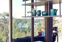 Hanging shelves kitchen
