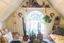 Boho living rooms