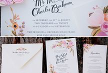 Wedding Invitations / Romantic pink floral invitations