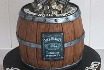 whisky bottle cake