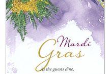 Mardi Gras Invitations / #MardiGras #Invitations #Carnival