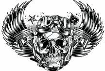 Race Skull Biker